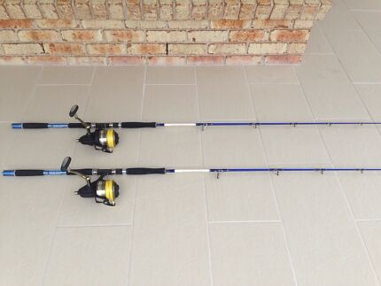 Daiwa monster mesh jigging rods with fin-nor 9500 offshore reels Salamander Bay Port Stephens Area Preview