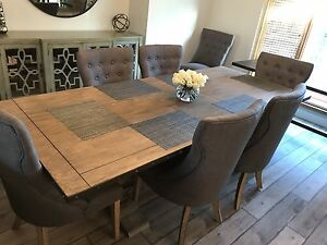 New farmhouse large dining table 6 feet leaf 90 inches