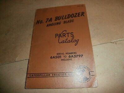 Cat Caterpillar Parts Catalog No 7a Bulldozer Angling Blade