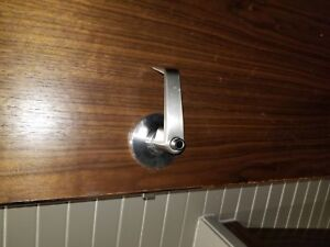 Brushed Chrome door privacy lock handle.