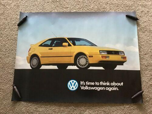 1990s VW  original dealership color showroom poster.