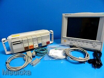 HP Viridia 24C Multiparameter Patient Care Monitor Cables and Module+rack ~14560