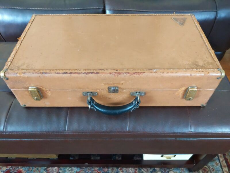 VTG LEBLANC PARIS Leather Hardside trumpet? Horn Case (Case Only) suitcase