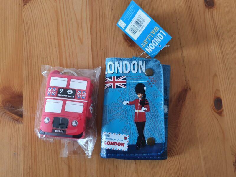 Tourist+London+Wallet+blue.+Free+mini+notebook
