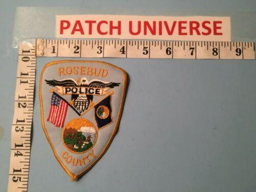 VINTAGE ROSEBUD COUNTY  MT POLICE   SHOULDER PATCH  J004