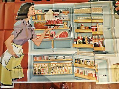 Vintage 1950 Rainlap Billboard Advertisment Gibson Appliances Refridgerator
