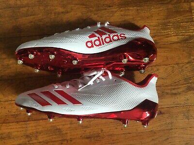 ADIDAS SM ADIZERO 5-STAR 6.0 NFL WHITE RED FOOTBALL CLEATS - SIZE MEN 15 US NIB