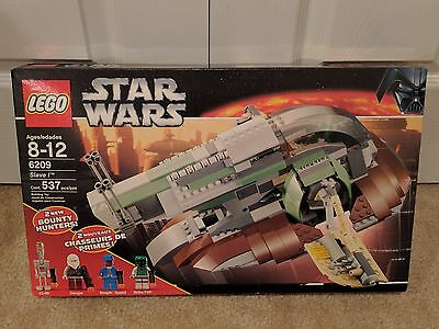 Lego Star Wars Slave I 6209 Boba Fett Dengar Han Solo Carbonite Sealed Set Rare