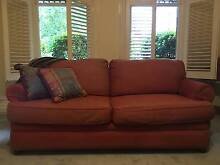 Sofa bed Moran 2.5 seater in teracotta red Malvern East Stonnington Area Preview