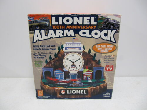 Lionel 100th Anniversary Animated Talking Train Alarm Clock w/ Box & Papers