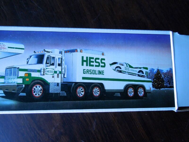 HESS TOY TRUCK, 1988, Race Car Transporter, Mint Condition