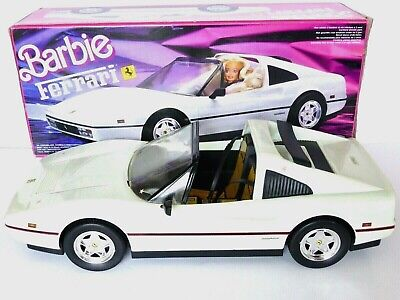 MATTEL BARBIE VINTAGE 3654 ** WHITE FERRARI ** WITH BOX,RARE + OTHER CARS LISTED
