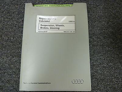 1994 1995 1996 1997 1998 Audi Cabriolet Suspension Brakes Steering Repair Manual