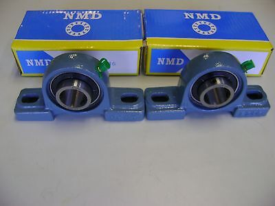 2 Excellent Quality Nmd Brand Ucp205-16 1 Bore 2 Bolts Pillow Block Bearings