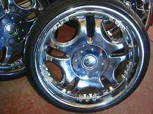 """Set Of 19"""" Chrome Rims 5 Stud x 100 Pattern Only ! Green Valley Liverpool Area Preview"""