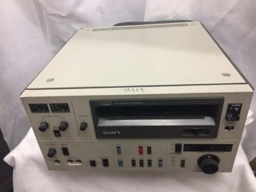 "Sony VO-5800 3/4""  U-matic Videocassette Player (NTSC) Great working condition."