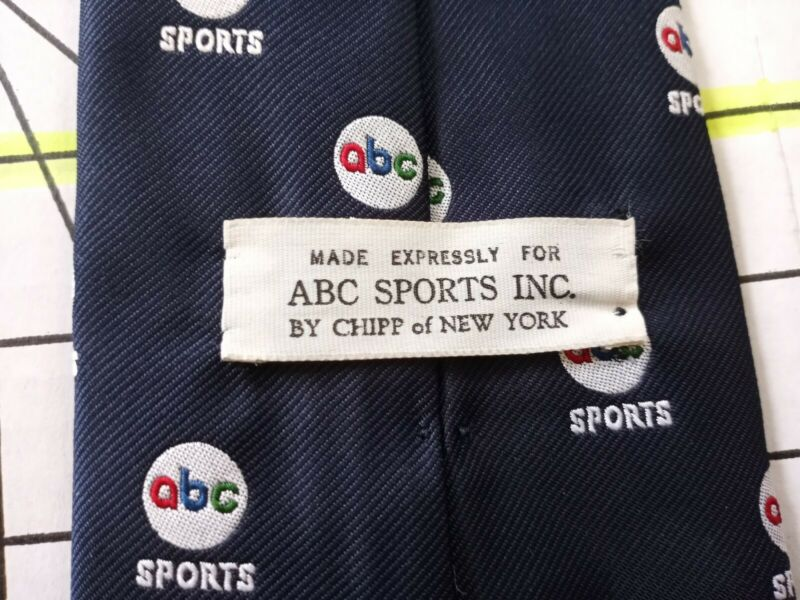 1965 - 1979 Vintage ABC SPORTS INC Neck tie by Chipp Neckwear New York