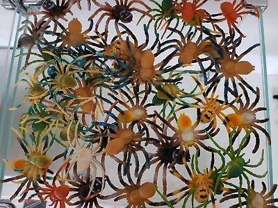 Spinnen Insekten Gummitiere Spieltiere Spielzeug Halloween Karnevalskostüm Sumpf