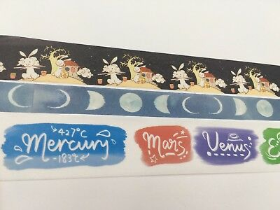 Mid-Autumn Festival Washi tape Moon Luna Day Star Fat Wide Tape Bunny Chinese
