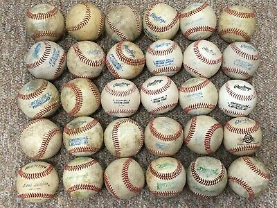 30 Genuine Leather Used Baseballs Batting Practice Fielding