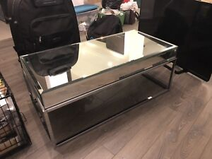 Modern glass COFFEE TABLE , ikea Billy BOOK CASE, FOR SALE