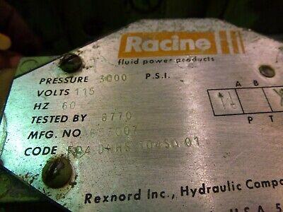 Racine Hydraulic Valve