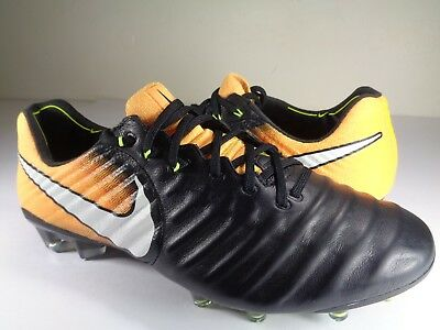arrives 0f590 e75c2 Nike Tiempo Legend VII FG Laser Orange Black Soccer Cleats SZ 8 (897752-008)