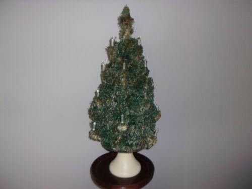 Vintage Glolite Bubble Light Type Christmas TREE, Plaster Base,1940