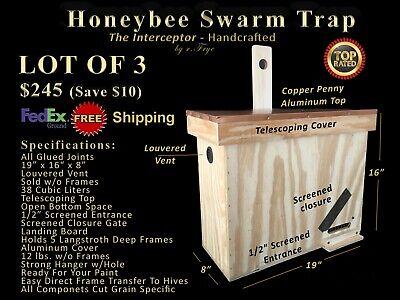 Honeybee Swarm Trap Lot Of 3 - Bee Equipment - Bee Hive