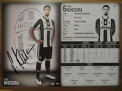 Handsignierte Autogrammkarte AK *SAMI KHEDIRA* Juventus Turin 16/17 2016/2017