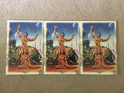 (3) 1995 Joe Jusko's Edgar Rice Burroughs Colossal Cards 5 Card Pack