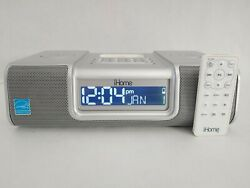 iHome iP9 Clock Radio Dual Alarm iPod iPhone Docking with AC Adapter and Remote