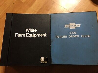 2 Big Binders White Oliver Moline Tractor Service Bulletins Most 1970s Some 80s