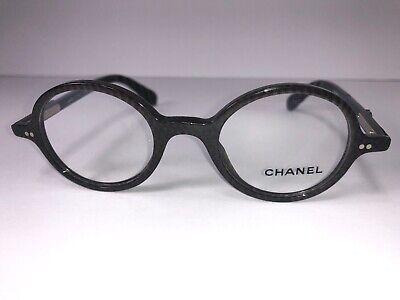 CHANEL Eyeglass Frames 3251 c. 1411 Grey Brown Pattern Women Round Glasses (Round Eyeglass Frames For Women)
