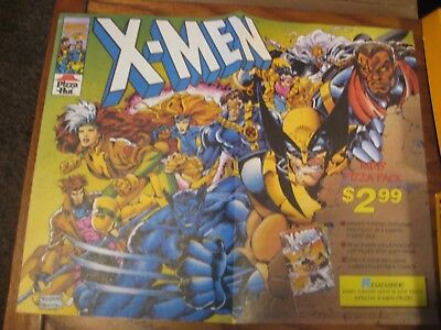Pizza Hut Placemat Trayliner - X-Men - 1993