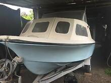 Half cabin fibreglass fishing boat with 50 HP 4 stroke Honda Williamstown Hobsons Bay Area Preview