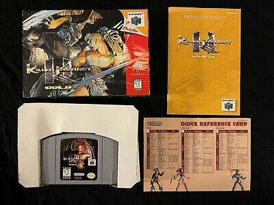 Killer Instinct Gold (Nintendo 64, 1997) Box Manual Complete CIB N64