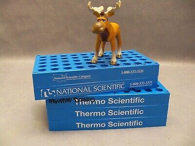 Vial Rack 5x10 Blue Thermo Scientific National Holds 50 Vials Lot Of 5