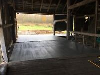 Concrete walkways and pads