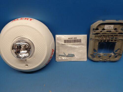 1) SCWL-CLR-ALERT System Sensor Fire Alarm Strobe Ceiling White READ DESCRIPTION