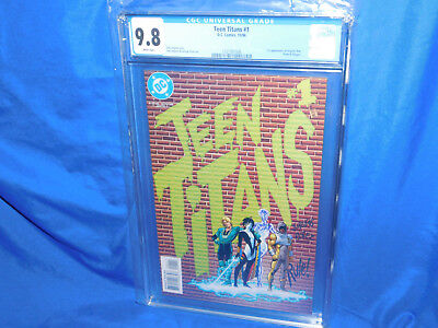 Teen Titans #1 CGC 9.8 1996 1st Appearance Of Argent Risk Prism & Slagger  Key!