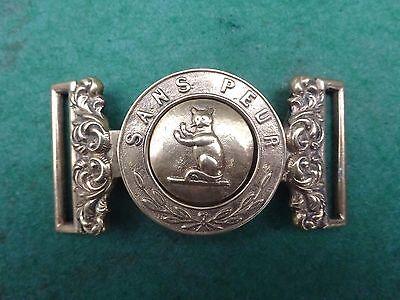 Scarce Victorian military brass Seaforth Highlanders belt buckle - Sans Peur