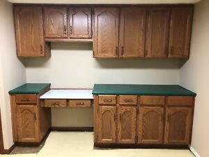 Cabinets for kitchen or garage storage.