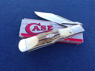 CASE XX * 1987 STAG LARGE SWING GUARD COKEBOTTLE KNIFE KNIVES