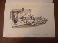 Diplomatic Bank Robber Pen & Ink Orig 20th C Illus,bill Hewison, Art Editor Of -  - ebay.co.uk