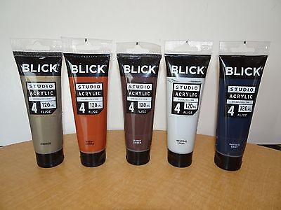 - Blick Studio Acrylic Paint 4 fl oz. Browns, Grays, Gold, Silver (see variations)
