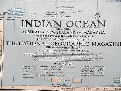 Карты мира Vintage 1941 National Geographic