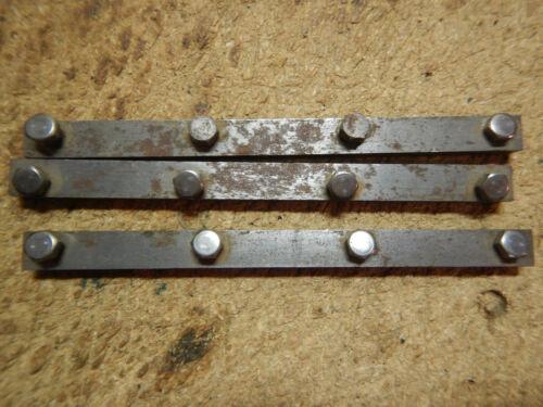 3 OLDER WOOD JOINTER KNIFE LOCKING BARS