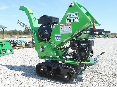 Drum Type Wood Chipper Tracked Self-powered Peruzzo Tb100 Chip 4d X 12wide