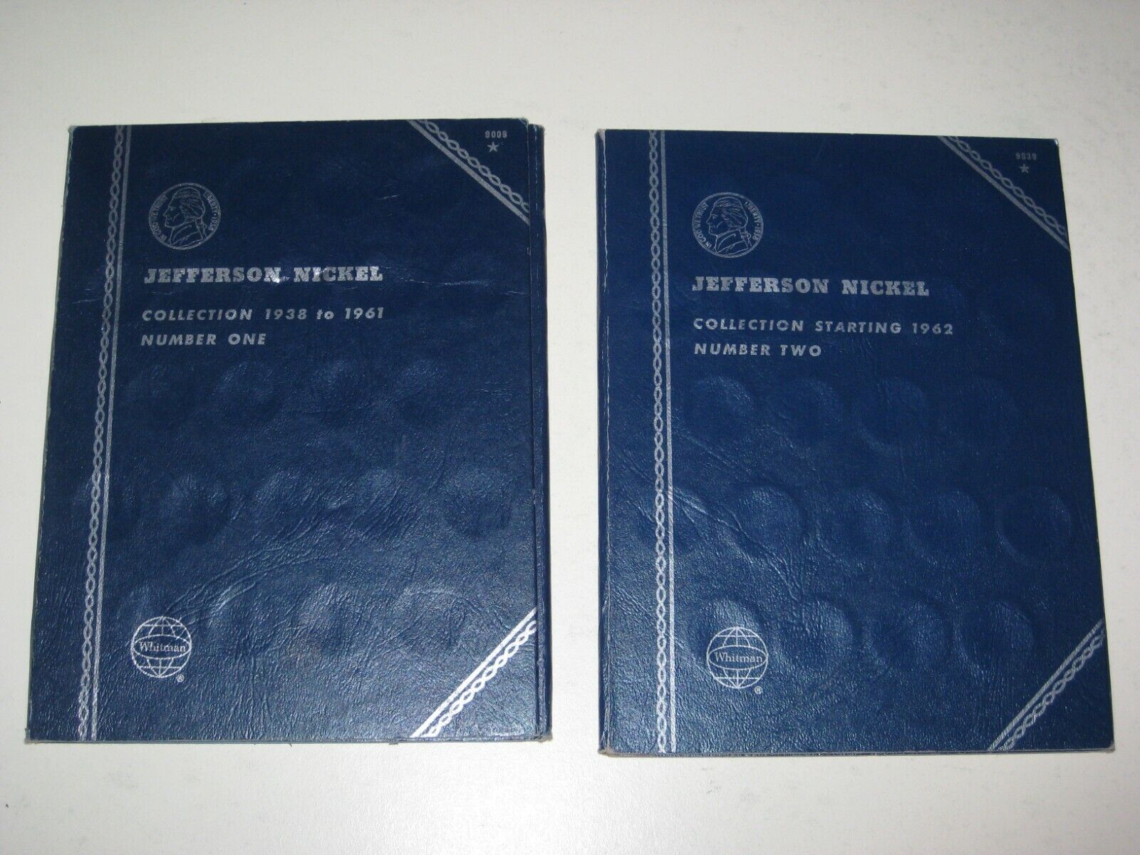 1938-1961 1962- Jefferson Nickel Whitman Folders Set Of 2 Lot I - $1.39